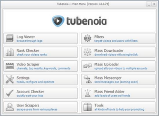 Product picture Tubenoia - youtube marketing bot